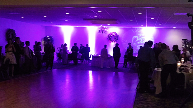 Eclectic Songs uplighting at a Wedding Reception
